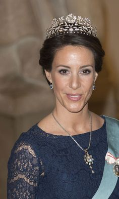 Princess Marie wore several family heirlooms to the party Photo: Getty Images www.diamonds.pro