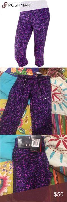 NWT NIKE DRI FIT WORKOUT YOGA PANTS IN CHEETAH D Nike Pants Track Pants & Joggers