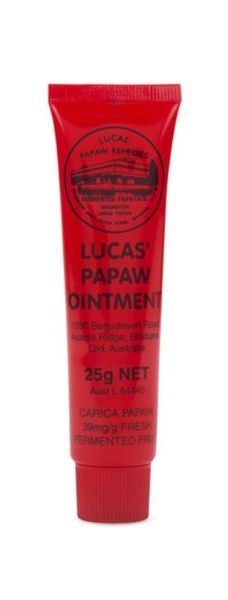 Model Frances Aaternir an't live without Lucas' Pawpaw ointment—calling the Australian brand the best lip balm in the world.