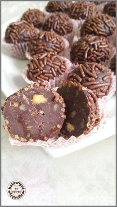 bouchées de noix au chocolat