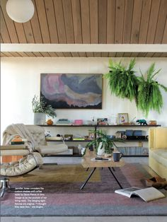 Home Decor >> Living room of Candystore Collective owner, Jennifer Jones in anthology magazine. photo by kelly ishikawa
