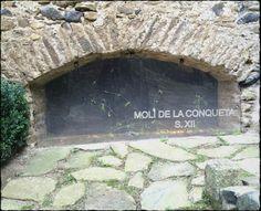 Molí de la Conqueta.  Segle XII.  Sant Feliu de Pallerols. Garrotxa.