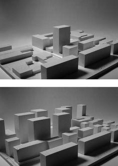 Bild oben: Modell aktuelle Situation; Bild unten: Modell zukünftige Situation