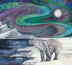 Nanook-King-of-the-Ice. An original machine embroidery by Rachel Wright ...