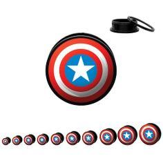 Marvel Comics Captain America Threaded Acrylic Plugs - 1 pair 2 gauge Pierce this 2,http://www.amazon.com/dp/B0060LTOOQ/ref=cm_sw_r_pi_dp_a5pntb1VQMZ82FST