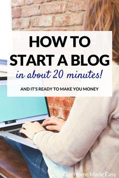 Creating a blog shouldn't be hard! Here is an easy & quick tutorial on setting up a blog that is ready to earn you money in about 20 minutes!
