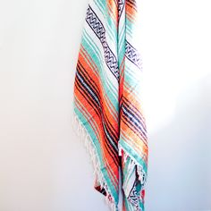 BACK IN STOCK. mexican blanket {orange, turquoise, black} #mexicanblanket #firesideblanket #fall #autumn