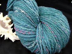 Handspun Yarn Large Skein of Handspun Hand Dyed Art YarnHand von PastoralWool