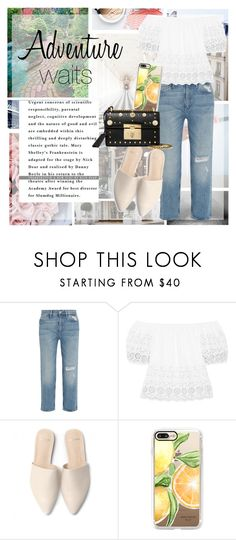 """""""Adventure  w a i t s"""" by sandralalala ❤ liked on Polyvore featuring Oxford, Barker, M.i.h Jeans, See by Chloé, Casetify and Gucci"""