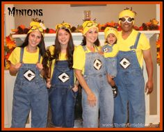 Make Your Own Minion Costume Ideas; #family costumes #minions