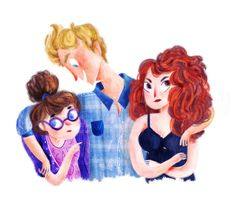 Cath, Levi and Reagan | Fangirl