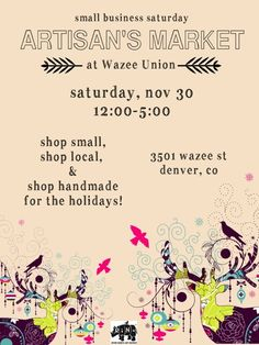 Artisan's Market at Wazee Union :: November 30, 2013