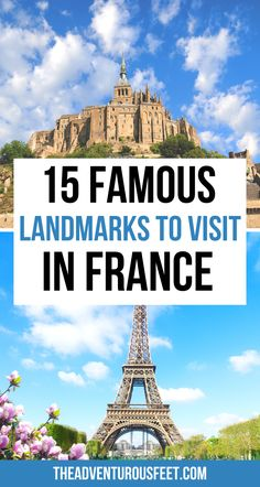 Planning a trip to France? Here are the most famous landmarks not to miss| Famous landmarks in France| France landmarks|French landmarks in paris|paris France landmarks | famous monuments in France| most beautiful places to visit in france| famous french landmarks | french landmarks to visit|famous landmarks of France |france famous landmarks| architectural wonders in France | famous natural landmarks in France #famouslandmarksinfrance #frechlandmarks #parislandmarks Famous Monuments, Famous Landmarks, Paris Paris, Paris France, Beautiful Places To Visit, Cool Places To Visit, Paris Bucket List, Paris Landmarks, Castles To Visit
