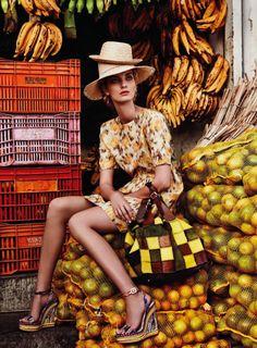 """In Living Color"" | Model: Denisa Dvorakova, Photographer: Nicole Bentley, Marie Claire Australia, March 2013"