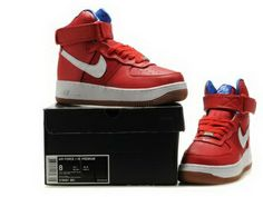 Nike Air Force 1 High Premium Bobbito Edition sport red white