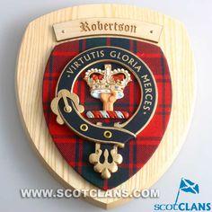 Robertson Clan Crest Plaque: http://www.scotclans.com/scottish_clans/clan_robertson/shop/scottish_homes/CC-CL02.html