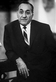 """Tony """"Big Tuna"""" Accardo,boss chicago outfit,spent 70 years in the outfit,starting as a bodygaurd for al capone and ending as the boss of the outfit,most successful mob boss ever Real Gangster, Mafia Gangster, Chicago Outfit, Mafia Families, Steampunk, Al Capone, The Godfather, Gangsters, Real Life"""