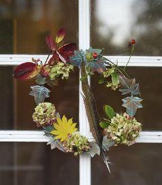 Wreath with eucalyptus, juniper and green moss