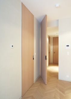 Floor to ceiling doors - frameless, hidden hinge Flat Interior, Modern Interior Design, Interior Architecture, Interior And Exterior, Porte Design, Door Design, Pivot Doors, Internal Doors, Concrete Houses