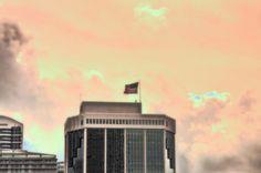 Miami, US Flag, HDR