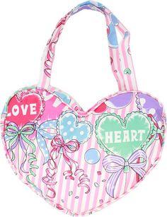 Harajuku Style Heart Bag (Orange Pink) $18.00 http://thingsfromjapan.net/harajuku-style-heart-bag-orange-pink/ #harajuku fashion #harajuku style bag #kawaii #Japanese accessory