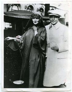 Rudolph Valentino, Wife Natacha Rambova