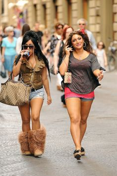 Nicole Polizzi Photos Photos: Jersey Shore Stars Out in Florence Swag Girl Style, Girl Swag, 2000s Fashion, Girl Fashion, Fashion Outfits, Snooki And Jwoww, Nicole Polizzi, Wine Meme, Outfit