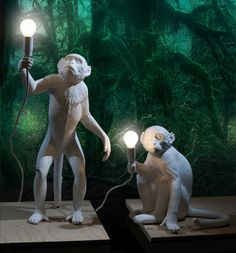 Benvenuti in Seletti. Monkey lamps! The only lighting that makes perfect sense in my house