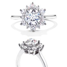 Hearts On Fire Delight Lady Di Platinum Diamond Engagement Ring