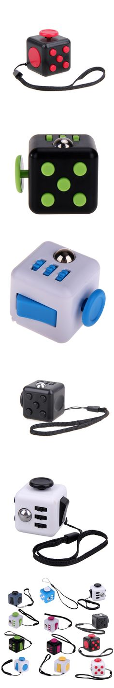 Mini Squeeze Fun Fidget Cube Toy Dice Anxiety Attention Anti Stress Puzzle Magic Relief Adults Funny Fidget Toys Color Random
