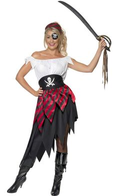 Pirate costume for women : Vegaoo Adults Costumes