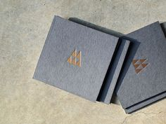 gold foil on dark grey : business cards