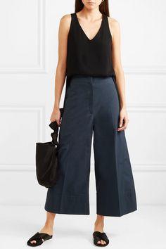 Lemaire   Cropped cotton-poplin wide-leg pants   NET-A-PORTER.COM