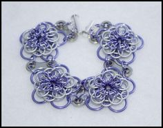 Dahlia Bike Part Chain Maille Bracelet 2 by FeMailleTurtle