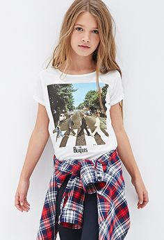 Abbey Road Batwing Tee (Kids) | FOREVER21 girls - 2000100219 I LOVE THE BEATLES