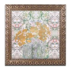 Trademark Fine Art Floral Abstract Canvas Art by Lisa Powell Braun, Gold Ornate Frame, Multicolor