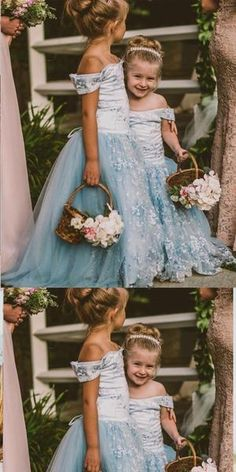A-Line off-the-Shoulder Blue Tulle Flower Girl Dress Cheap Flower Girl Dresses Flower Girl Ideas ALine Blue cheap Dress Dresses Flower Girl offtheshoulder Tulle Green Flower Girl Dresses, Tulle Flower Girl, Tulle Flowers, Flower Girls, Cheap Dresses, Girls Dresses, Prom Dresses, Wedding Dresses, Bridesmaid Gowns