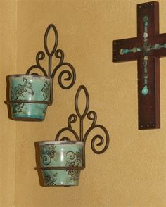 Wall Hanging Flower Pots decorative metal wall flowerpot holder | walls, decorative metal