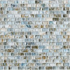 Shaw Floors Glass Expressions Micro 12'' x 13'' Blocks Accent Tile in Seaglass