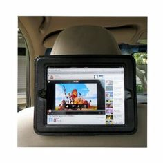 Here is an iPad Headrest Mount For Car-Tablet Held Securely Within A Case-iPad Cleaning Cloth-Build Greater Safety Into Long Road Trips