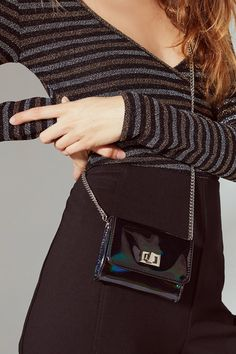 Turnlock Wallet Crossbody Bag   Urban Outfitters