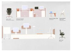 Lovely illustrations and diagrams by Living Office magazine