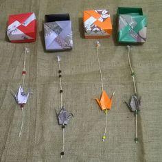 Cajas y colgantes de origami