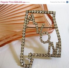 ON SALE 15 OFF.. Avon Alabama State Rhinestone by Sisters2Vintage