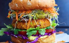 <p>With sweet potato, quinoa, and gluten-free bread crumbs, these…