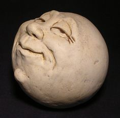 ManintheMoon Garden Head Antique White Eggshell by thefunnything
