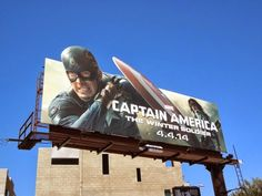 Captain America: The Winter Soldier movie billboard