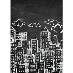 Photo background Vinyl Backdrops for Photography Props [ Chalkboard City / 2367 ] Durable, Wrinkle Free, Matte Vinyl Rolled in Tube - Made In USA Chalkboard Wall Art, Chalk Wall, Chalkboard Designs, Chalk Board, Chalkboard Ideas, City Backdrop, Vinyl Backdrops, City Background, Photography Backdrops