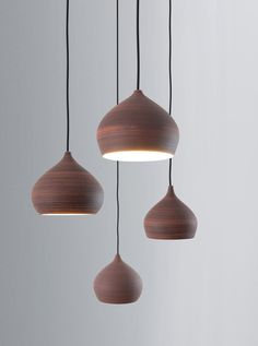 """Shade_ceramic"" freeformed lampshades / isabel hamm licht"
