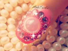 BIG MIGHTY 3D PEARL WITH PINK RHINESTONES AND BEADS NAIL ART | 1 MINUTE ...